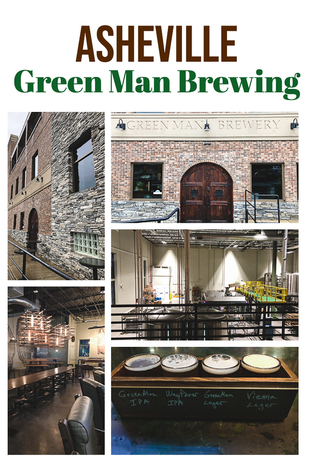 Collage of photos from Green Man Brewery