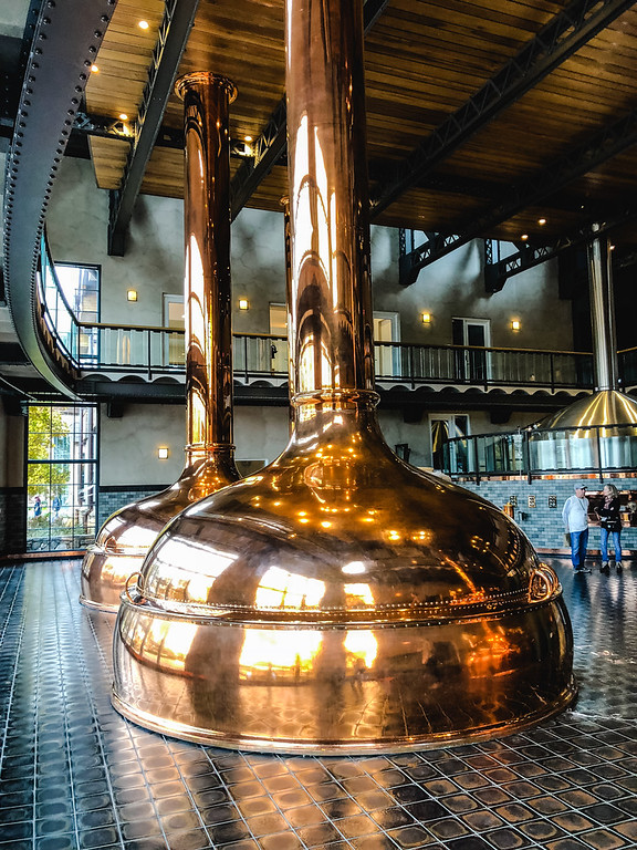 Copper kettles at Sierra Nevada Brewery