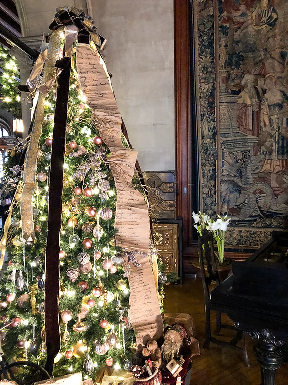 Decorated Christmas Tree at the Biltmore
