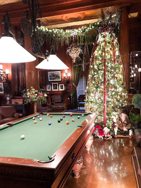 Biltmore Christmas tree in game room