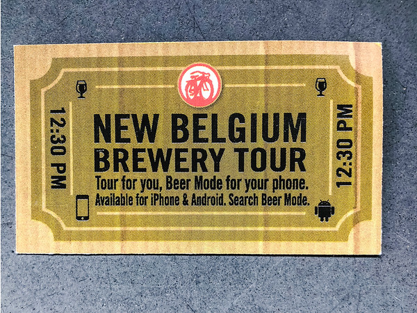 New Belgium Brewery Tour Ticket