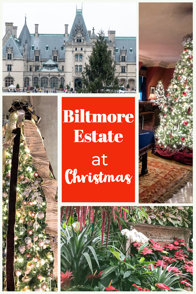 Collage of the Biltmore Estate for Christmas