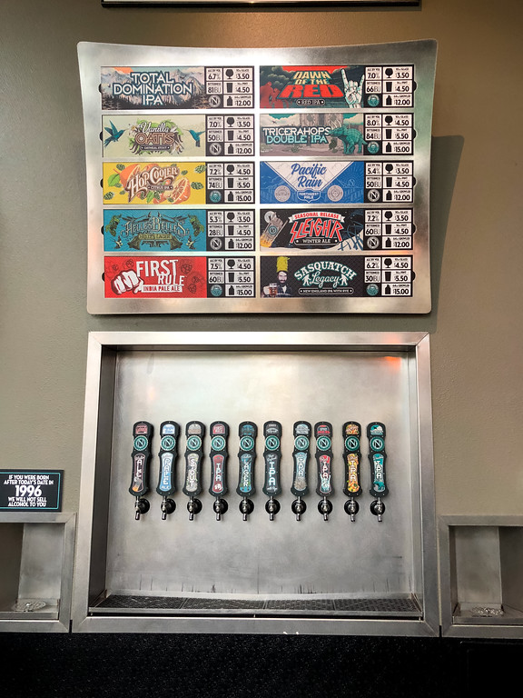 Beers on tap at Ninkasi brewing Company