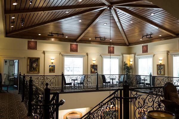 Upper floor at the Pavillion tasting room for Belle Fiore Winery