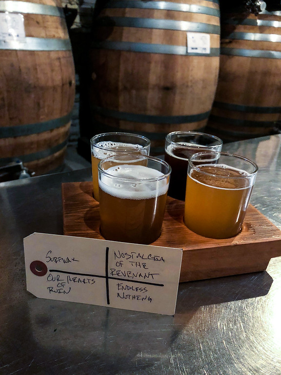 Flight of beers from Burial Beer