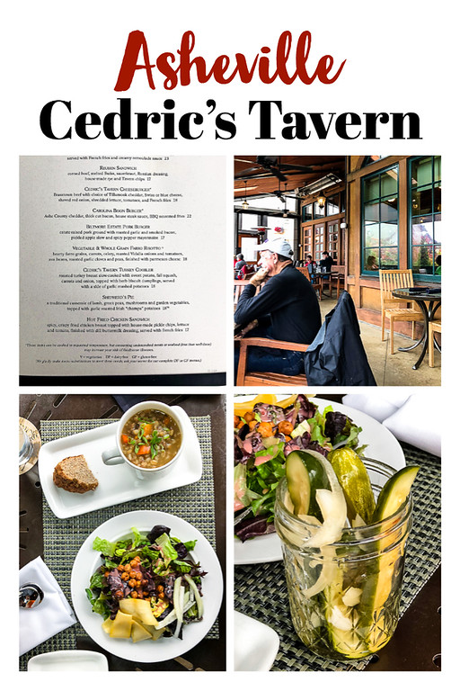 Photo collage from our meal at Cedric's Tavern