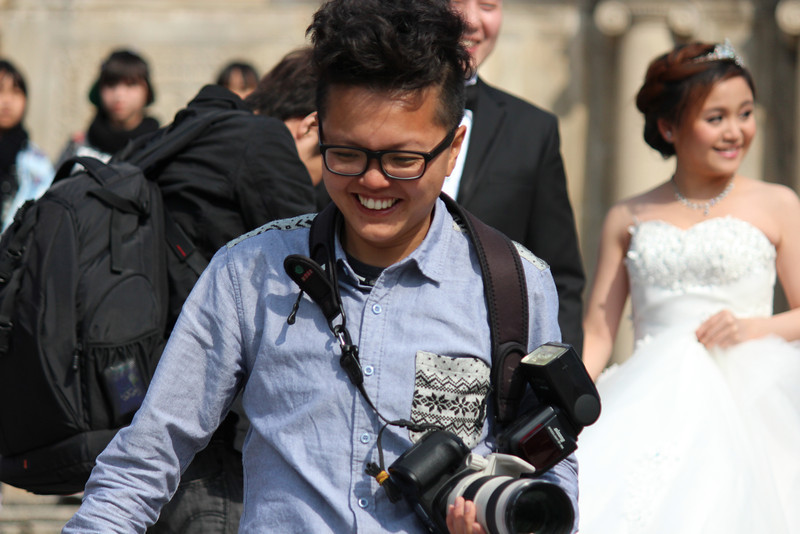 Chinese Photographer with a great set of Chompers