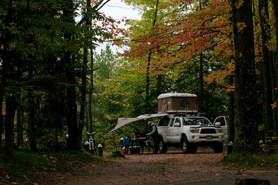 Camping in the Northwoods of Wisconsin