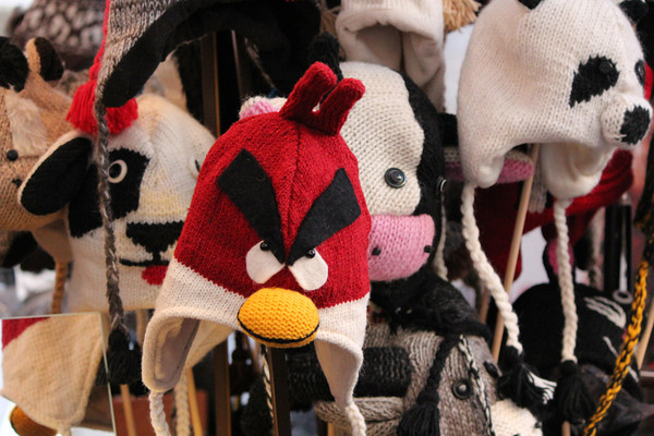 Italy, Verona, Piazza Erbe Evil Chicken Hat Stall