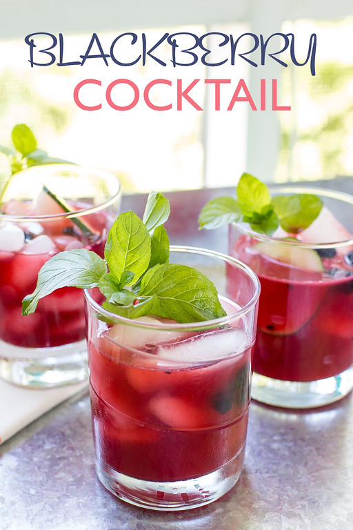 Blackberry Cocktail - blackberries, gin, and mint make a refreshing summer cocktail