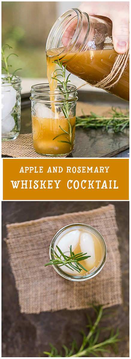 Apple and Rosemary Whiskey Cocktail