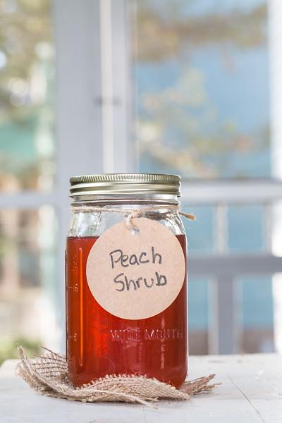 Jar of peach shrub