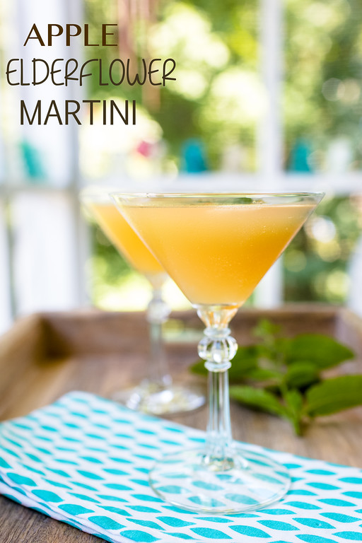 Apple Elderflower Martini - vodka, apple juice and elderflower liqueur!
