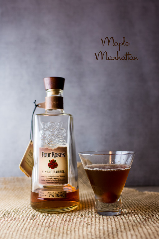 Maple Manhattan - a fall bourbon cocktail