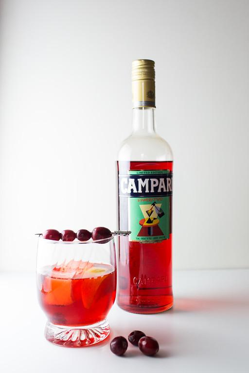 Campari for a cranberry negroni