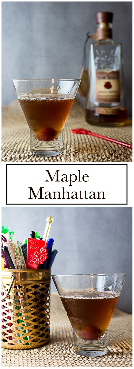 A classic Manhattan gets a fall twist with maple syrup in this Maple Manhattan.