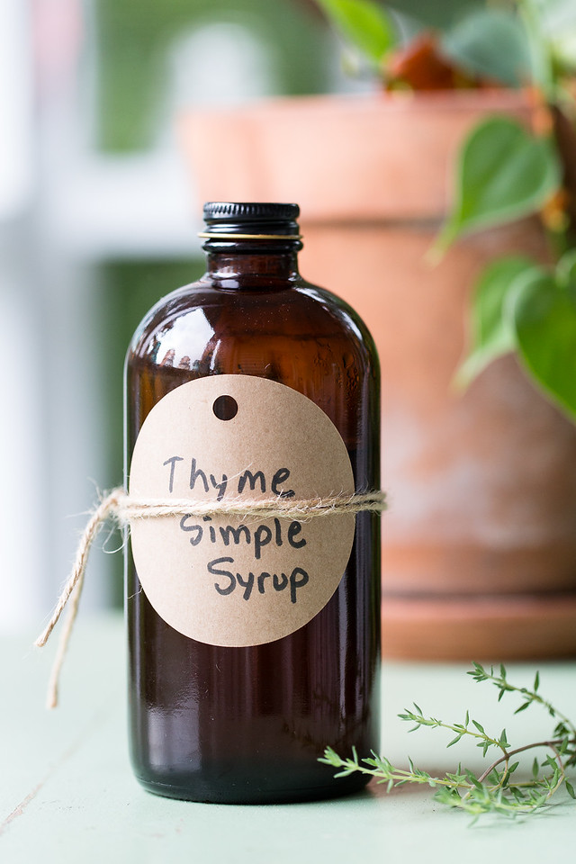 Brown Bottle Reading Thyme Simple Syrup