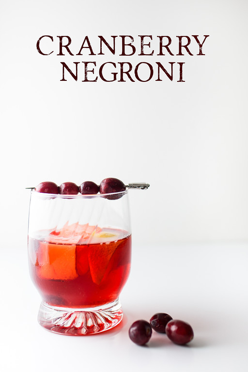 Make a holiday version of a classic with this Cranberry Negroni.