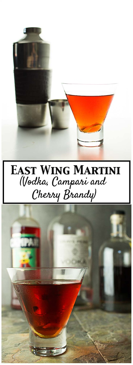 East Wing Martini - Vodka, Campari and Cherry Brandy!