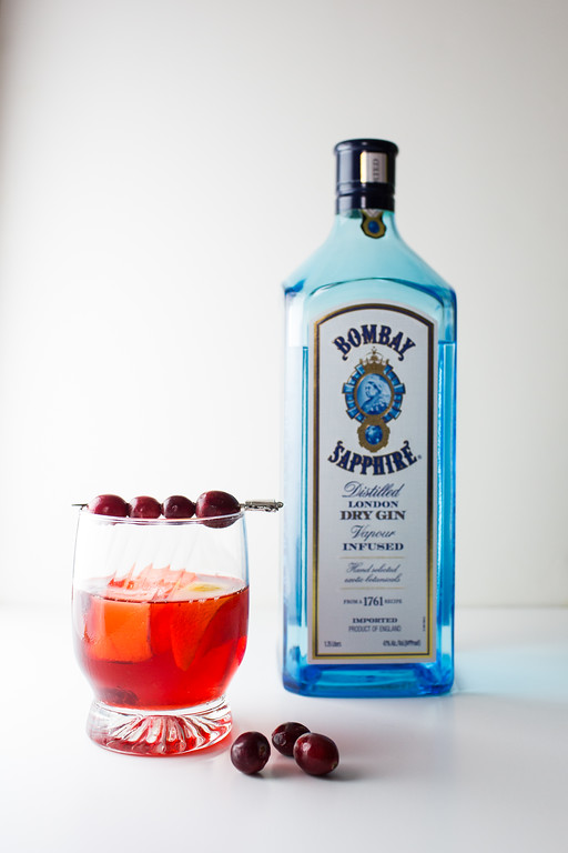 Bombay Saphire London Dry Gin for a cranberry negroni