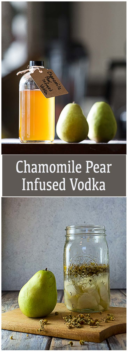 Chamomile Pear Infused Vodka!