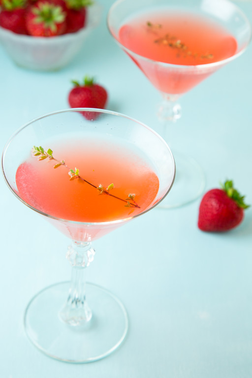 Summer Thyme - a strawberry gin martini