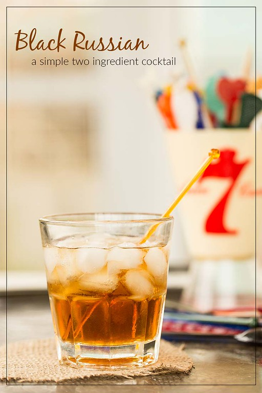 Black Russian Cocktail - an easy cocktail with only two ingredients.