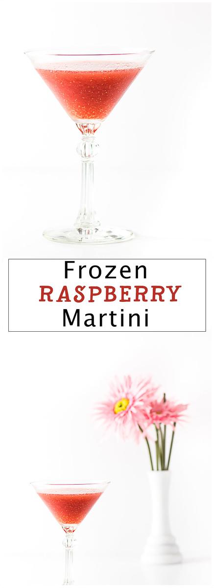 Frozen Raspberry Martini