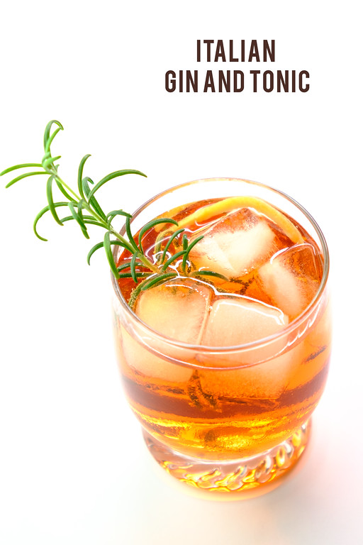 Italian Gin and Tonic - the addition of Campari and Vermouth give it a Negroni like flair!