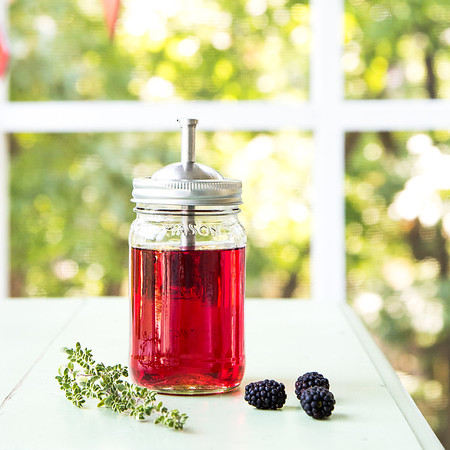 jar of blackberry vodka