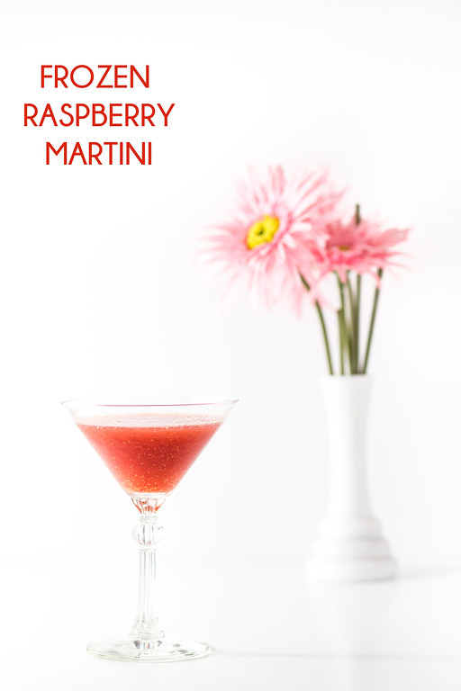 Frozen Raspberry Martini - raspberries, gin, vermouth - Grey is the New Black