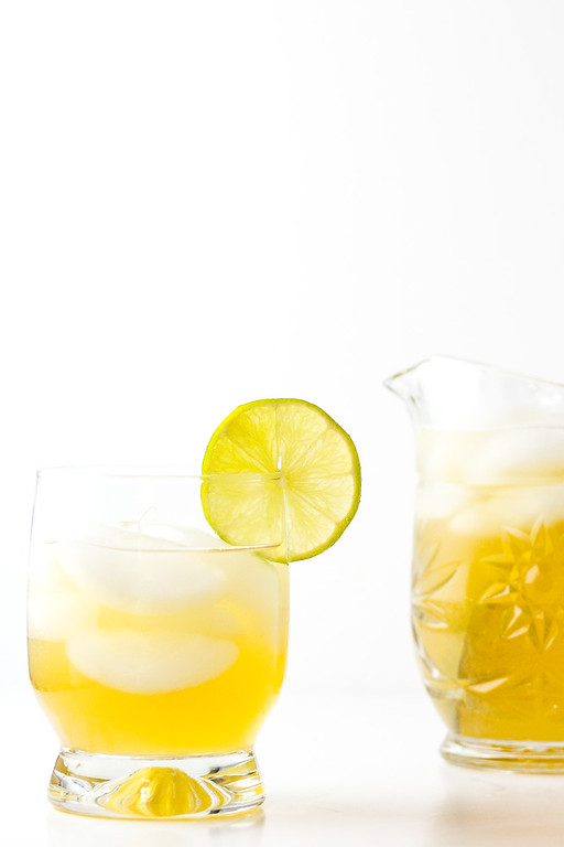 Gin and Ginger cocktail - gin, ginger liqueur, ginger ale make a delicious cocktail.
