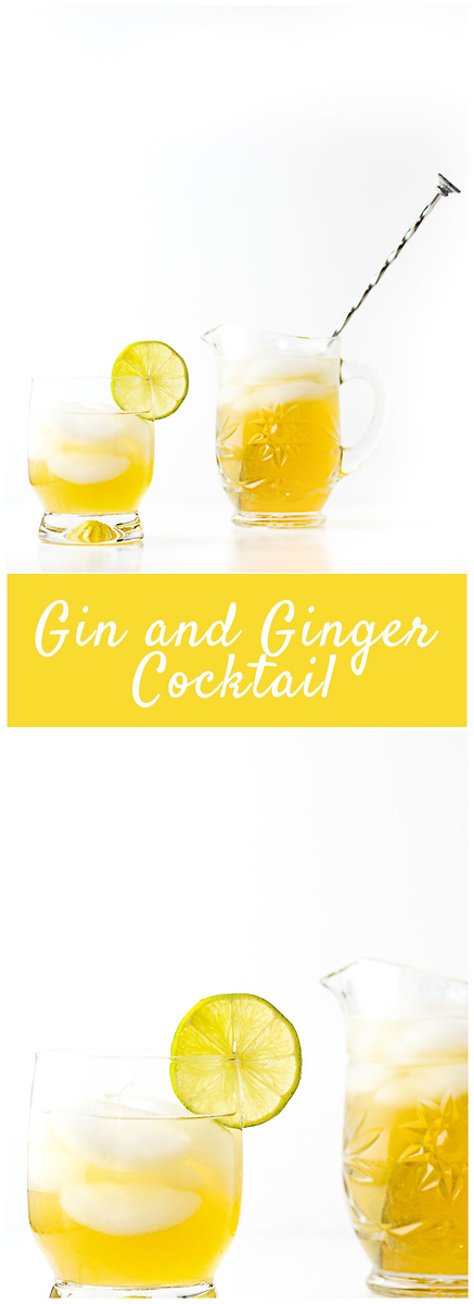 Ginger liqueur and ginger ale make this Gin and Ginger Cocktail so refreshing and delicious!