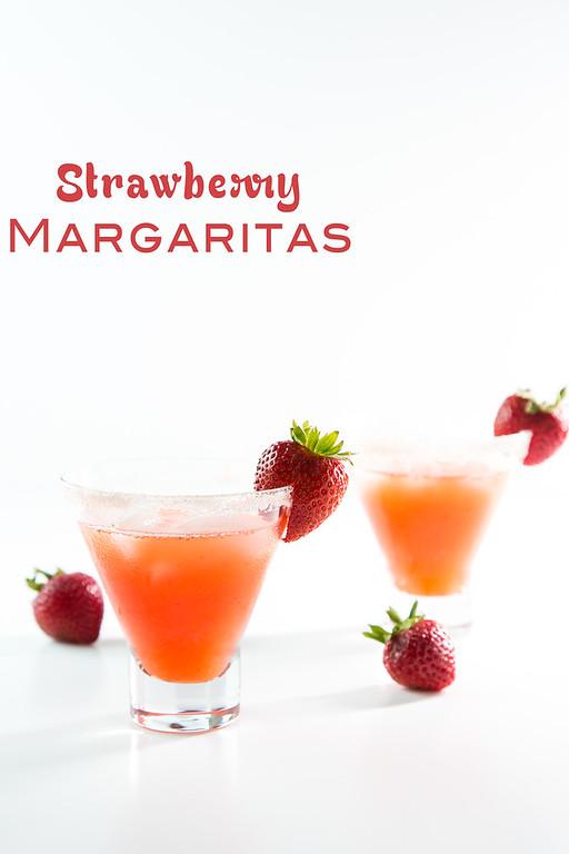 Strawberry Margarita - bursting with fresh strawberry flavor!