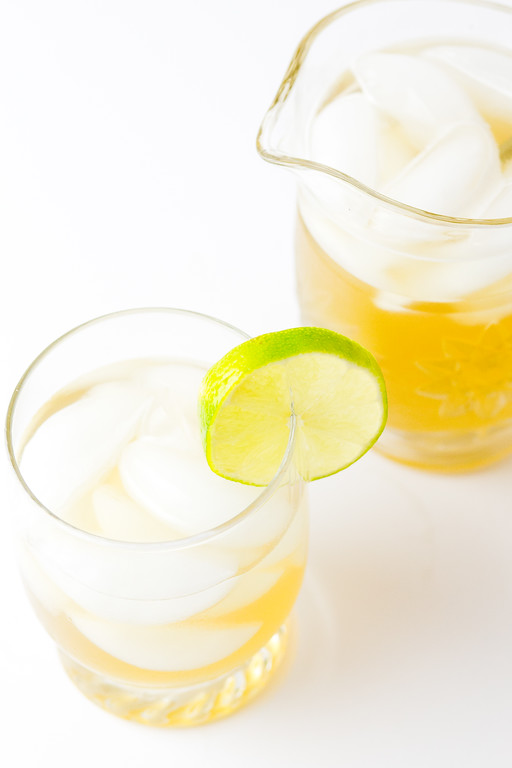 Gin and Ginger Cocktail - ginger ale, ginger liqueur and gin make a delicious cocktail!