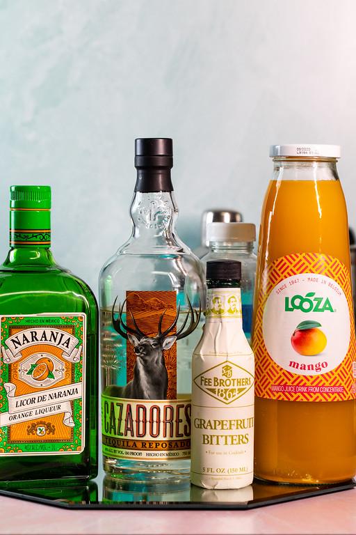 Orange liqueur, tequila, bitters, mango nectar.
