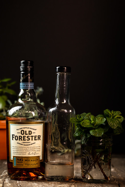 Old Forester Kentucky bourbon, simple syrup, and mint.