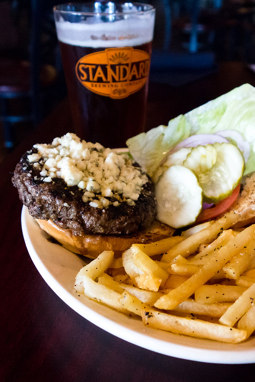 Black and Bleu Burger | Standard Brewing Company St. Louis