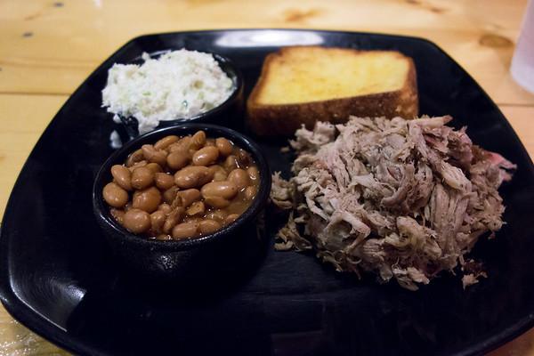 Pork plate at Choo Choo Bar-b-que