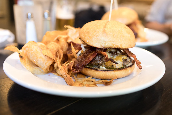 The Mountain Burger from Cafe on the Corner on Lookout Mountain, TN
