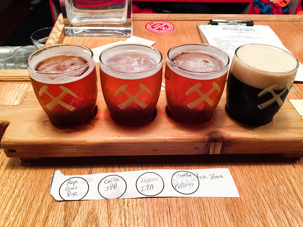 Beer Flight from Hutton & Smith Brewing Company in Chattanooga, TN