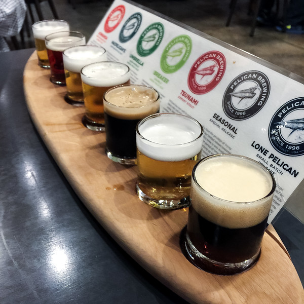 Pelican Brewing Company Beer Flight