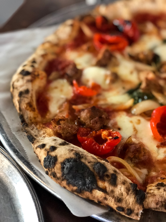 Peppadew peppers on pizza from Fiamma Pizza Company