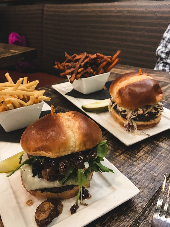 Burgers at Wicked Weed Pub