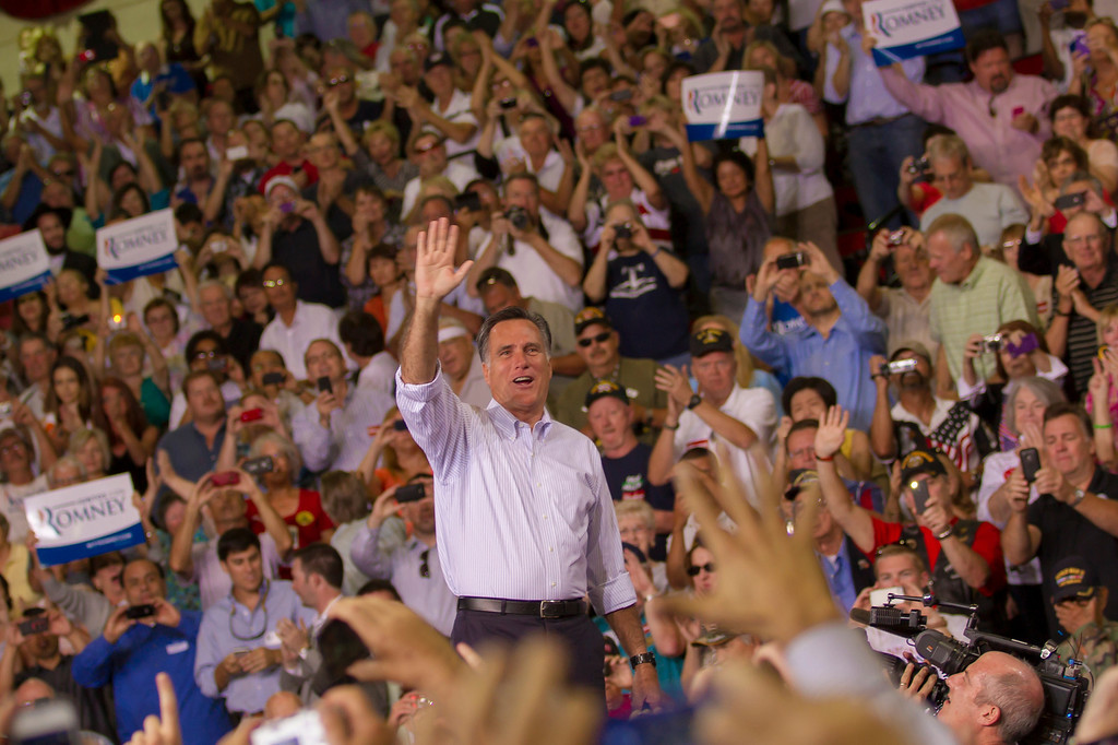 Mitt Romney greets supporters.  Las Vegas, NV