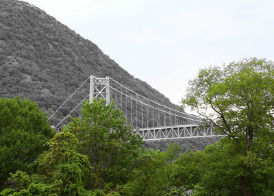 Photo effect of the Bear Mountain Bridge from Fort Montgomery, Fort Montgomery, NY
