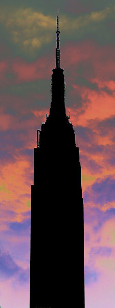 Empire State Building in sillouette, New York, NY