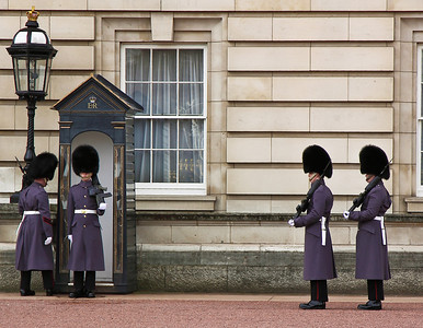Queen's guard at Buckingham Palace, London, United Kingdom