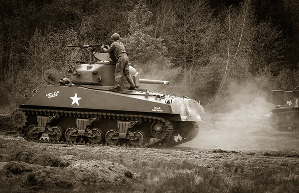 "M4 Sherman Tank ""Babs"" in the Fight"