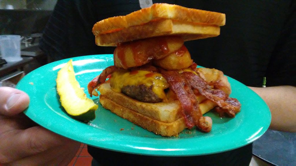 . This is the Mugs Burger at the new eatery in the former Pacers location on Route 20 in Mentor. (Betsy Scott - The News-Herald)